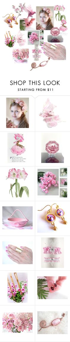 """""""Pretty in Pink"""" by anna-recycle ❤ liked on Polyvore featuring Spode, modern and rustic"""