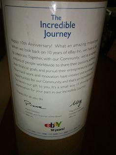 eBayana:  eBay 10 Year Anniversary Capsule with message from Pierre Omidyar & Meg Whitman.