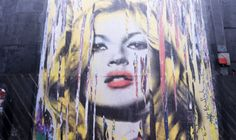 Banksy Wannabe Mr. Brainwash Unveils Massive Kate Moss Mural in London