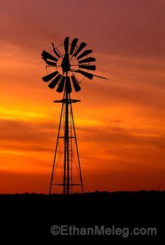 Sunset, Windmill