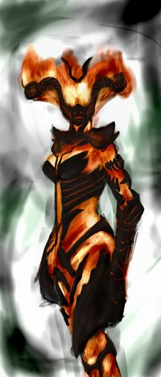 Flame Atronach by ~Excalle