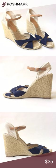 BCBG Generation Boho Wedge Heels Super cute pair of BCBGeneration jute wrapped wedge heels. Great condition as shown in the photos. BCBGeneration Shoes Heels