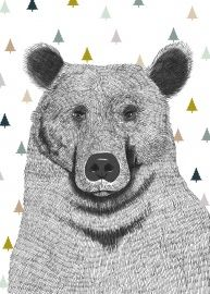 Minimel 'Poster A3 Bear with Trees'