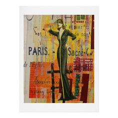 "East Urban Home 'Paris Fashion 2' by Irena Orlov Painting Print Size: 24"" H x 18"" W x 0.13"" D"