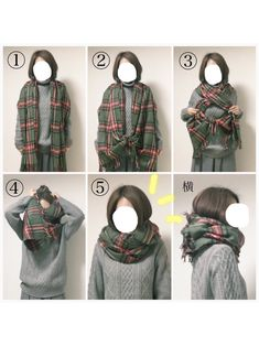 How to wear a scarf Look Fashion, Girl Fashion, Fashion Outfits, Womens Fashion, Fashion Tips, Ways To Wear A Scarf, How To Wear Scarves, Scarf Knots, Scarf Styles