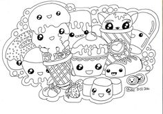 Kawaii Sweets Doodle   Full Size Version and Details available on my blog at Qspace.id.au