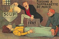 Anti-Women's Suffrage Postcards.  ICWT is (jokingly?) referring to the Internat'l Council of Women