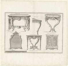 Spiegel en tafels, André-Charles Boulle, ca. 1710 - ca. 1720
