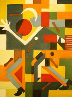 Stepping Out [Cubism-A637] - $500.00 painting by oilpaintingsartmaker.com