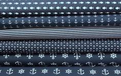 Stoffpakete - 768 Stoffpaket Jersey Maritim Blau Weiß 2,50m - ein Designerstück von my-kati bei DaWanda