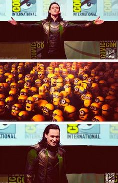 An accurate representation of the crowd at Comic Con hahahaha