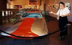 Savonuzzi's Ghia Gilda 1955 with Virgil Exner's Daughter. Chrysler's Exner fashioned the original concept model