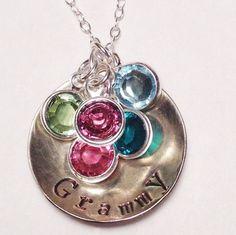 Grandmother's Necklace Personalized by OnWinterberryHill on Etsy