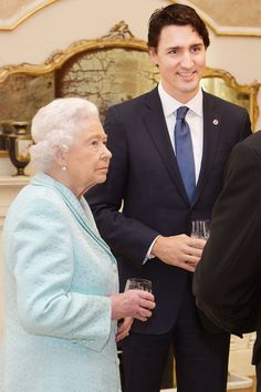 Queen Elizabeth II talks to the Prime Minister of Canada Justin Trudeau during a Heads of Government reception at the San Anton Palace on November 2015 near Attard, Malta. Queen Elizabeth II, The. Get premium, high resolution news photos at Getty Images Prince Phillip, Prince Charles, Commonwealth, British Monarchy, Royal Monarchy, Princess Margaret, Duchess Of Cornwall, Thats The Way, Kirchen