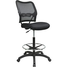 Space Seating Drafting chair offers all the comfort of a standard chair but at drafting table height.  Featuring a thick padded mesh seat and breathable Air Grid® back with built-in lumbar support, this chair is sure to keep you comfortable for long periods of time.