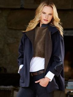 suede, down with asymmetrical zipper. sonia coat by brunello ...