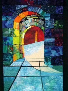 Crossraguel Abbey art quilt by Esterita Austin | Fiber Artist.