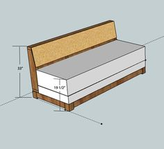 DIY couch that pulls out into a bed. idea for the office? Murphy Bed Ikea, Murphy Bed Plans, Diy Sofa, Diy Daybed, Twin Headboard, Ikea Furniture, Cool Furniture, Furniture Stores, Furniture Cleaning