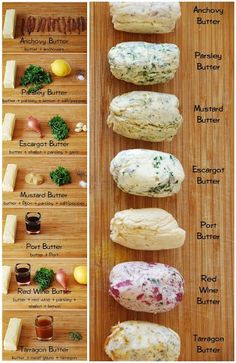 "Easy Homesteading: Herb Butter Recipes. ""Repinned by Keva - I've pinned this to my ""Make your own Butters"" board too xo""."