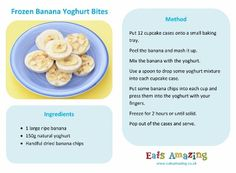 Frozen Banana Yoghurt Bites recipe - Simple and healthy snack idea with only 3 ingredients - easy recipe for kids - Eats Amazing UK