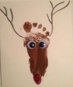 Awesome Christmas craft using baby feet! Make your own cards and decorations!