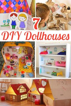 7 fun dollhouse ideas for inspiring imaginative play with figurines. Art Activities For Kids, Infant Activities, Party Activities, Diy For Kids, Gifts For Kids, Dollhouse Dolls, Dollhouse Ideas, Gifted Kids, Homemade Toys