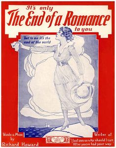 Vintage Song Poster - The End Of A Romance