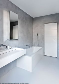 As Tadelakt is water repellent there's absolutely no demand for tiling etc. Tadelakt is incredibly versatile and may be used in a lot of means. Tadelakt not on. Bathroom Interior Design, Modern Interior Design, Kitchen Interior, Design Interiors, Bad Inspiration, Bathroom Inspiration, Small Bathroom, Master Bathroom, Bathroom Ideas