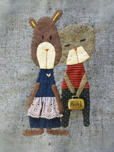 사각 파우치 : 네이버 블로그 Applique Cushions, Wool Applique, Embroidery Applique, Patchwork Bags, Quilted Bag, Textiles, Aplique Quilts, Dear Jane Quilt, Cat Quilt