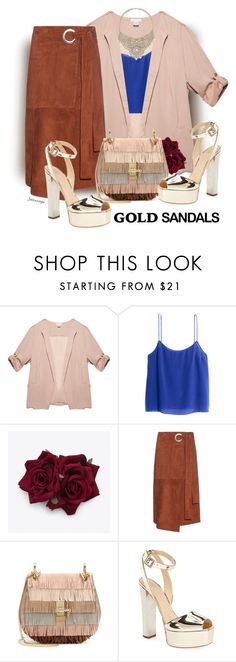 """Platform"" by jahkun ❤ liked on Polyvore featuring Wet Seal, H&M, TIBI, Chloé, Giuseppe Zanotti, Bebe and goldsandals"