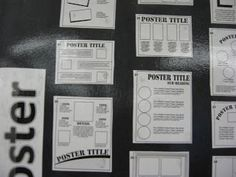 """How to Make a Poster"" Poster - great resource for project-based learning"