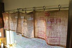 Beautiful No-Sew Burlap Curtains
