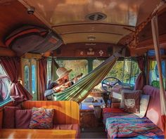 Interior Design Ideas For Camper Van - living - The Effective Pictures We Offer You About van life A quality picture can tell you many things. Kombi Hippie, Hippie Camper, Interior Trailer, Van Interior, Camper Interior Design, Interior Walls, Interior Ideas, Camper Life, Camper Van