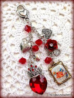 Queen of Hearts Alice in Wonderland Red Filofax Planner Purse Charm Erin Condren #Charm