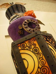 steampunk halloween inspired cake