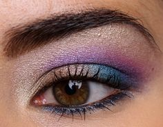 blue and purple eye make up