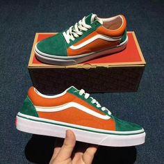 999ac578b16033 Buy Day Cat Selling  Vans   Van Sri Lanka Million Men And Women Shoes Trend  Fashion Casual Shoes (pork Leather) Green Orange Classic Security Standard  ...