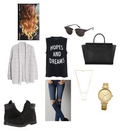 everyday by mannnooo on Polyvore featuring polyvore, fashion, style, Violeta by Mango, French Connection, American Eagle Outfitters, Timberland, Amanda Wakeley, Gorjana, Oasis and Topshop