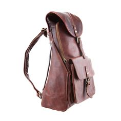 The MAHI Urban Explorer Backpack in Vintage Brown Leather | MAHI Leather