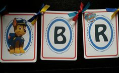 Paw patrol name banner/birthday banner/Abby Cadaby/Frozen/Doc