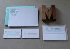 Design Moglea Paperie/Meg Gleason, designer. #stationery