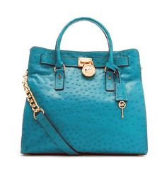 3bcd3281f0e5c0 Amazon.com: Michael Kors Hamilton Large North South Tote in Turquoise: Shoes