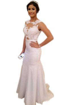 Mermaid Sleeveless Natural Prom Sweep/Brush Train Prom Dresses 2017