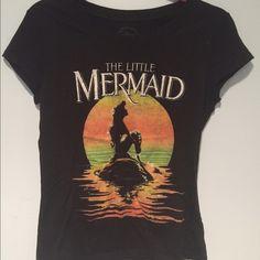 Little Mermaid Graphic Tee DISNEY'S Little Mermaid graphic tee. Never worn. Black tee with color logo. Disney Tops Tees - Short Sleeve
