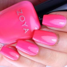 Wendy by Zoya, part of the Tickled Summer 2014 Collection. Available now for purchase at Zoya.com. Full review and more swatch photos available on my blog.  #nail #nails #nailpolish #polish #swatch #polishswatch #zoya #tickled #zoyanailpolish