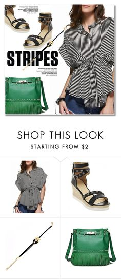 """""""Striped Shirts"""" by svijetlana ❤ liked on Polyvore featuring vintage, polyvoreeditorial, stripedshirt and twinkledeals"""