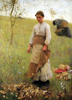 Sir George Clausen - The Stone Pickers