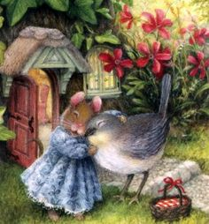 Susan Wheeler mouse and bird (36 pieces) Susan Wheeler, Marjolein Bastin, Peter Rabbit, Úžasné Kresby, Pěkné Kresby, Králíčci, Klasické Ilustrace, Roztomilé Ilustrace, Králíci