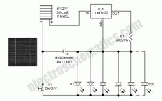 solar birdhouse light circuit diagram