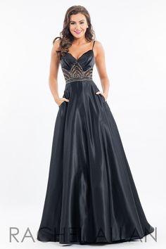 Rachel Allan 7531 Black Ball Gown Prom Dress